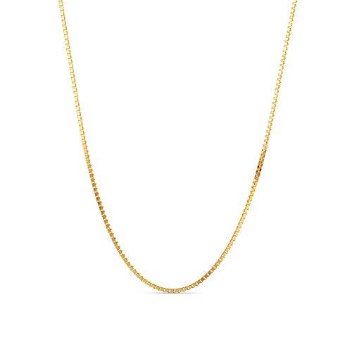 Miore Kette Damen Venezianer Halskette Gelbgold 9 Karat / 375 Gold, Länge 45 cm Schmuck