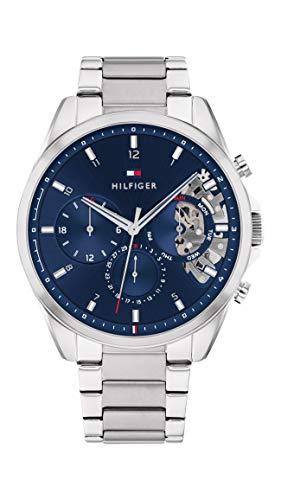 Tommy Hilfiger Herren Analog Quarz Uhr mit Edelstahl Armband 1710448